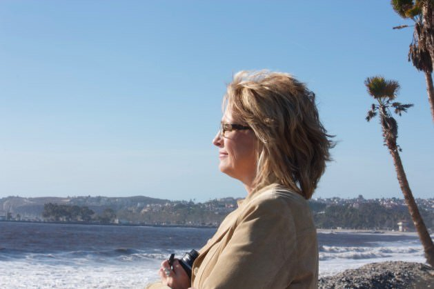 JL Crosswhite, Christian Romantic Suspense Author, looking out at the ocean.